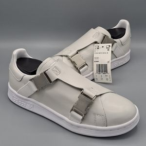 NEW Womens Adidas Stan Smith Buckle Sneaker Shoes